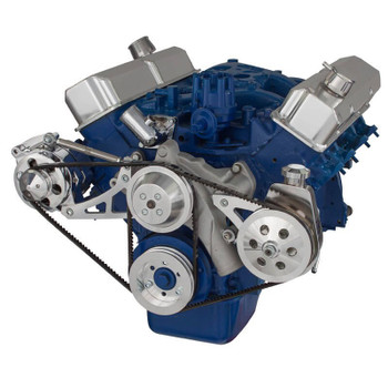Ford 390 V-Belt System - Alternator & Power Steering with Saginaw Pump