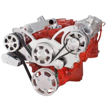 Serpentine System for SBC 283-350-400 - AC & Alternator - All Inclusive