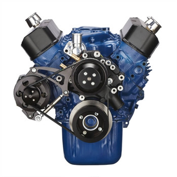 Black Ford 289-302-351W Serpentine Conversion Kit - Alternator Only