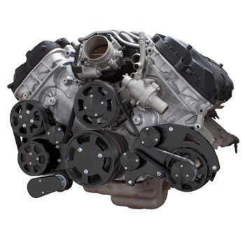 Stealth Black Serpentine System for Ford Coyote 5.0 - AC, Power Steering & Alternator - All Inclusive