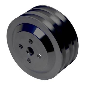 Stealth Black Ford Water Pump Pulley 3V High Flow (4 Bolt Crank - 289 WP)