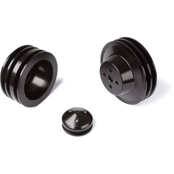 Stealth Black Ford Small Block Pulley Kit