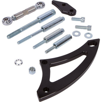 Stealth Black Ford 351W Alternator Bracket - Electric Water Pump