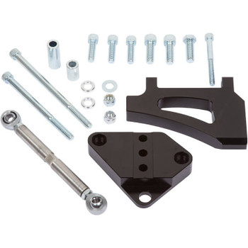 Stealth Black Ford Small Block Air Conditioning Bracket