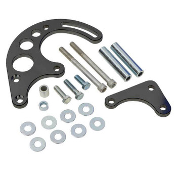 Stealth Black Chevy Small Block Power Steering Bracket