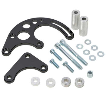 Stealth Black Chevy Big Block Power Steering Bracket - Long Water Pump