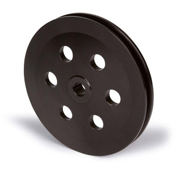 Stealth Black Chrysler Small Block Power Steering Pulley - Keyway (OEM Bracket)