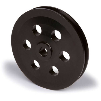 Stealth Black Pontiac Power Steering Pulley - Keyway Shaft