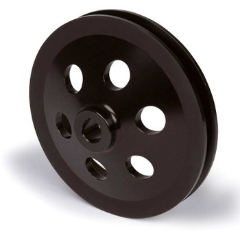 Stealth Black Saginaw Power Steering Pulley - Keyed Deep Offset