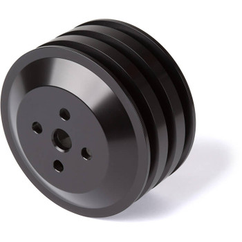 Stealth Black Ford Water Pump Pulley 3V 302, 351W, 351M & 400 (High Flow)