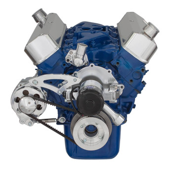 Ford 289-302-351W V-Belt System for Alternator Only with Electric Water Pump