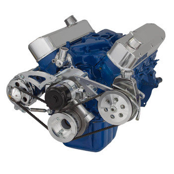 Ford 289-302-351W V-Belt System - Alternator & Power Steering with Electric Water Pump