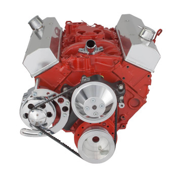 Chevy Small Block V-Belt System, Alternator Only - Long Water Pump