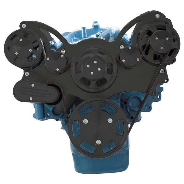 Stealth Black Serpentine System for Small Block Mopar - Alternator Only