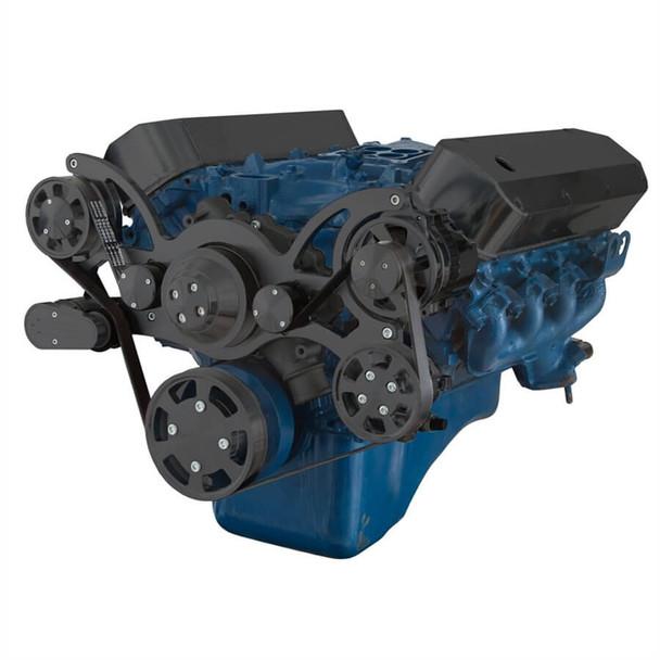Black Serpentine System for 429 & 460 - Power Steering & Alternator