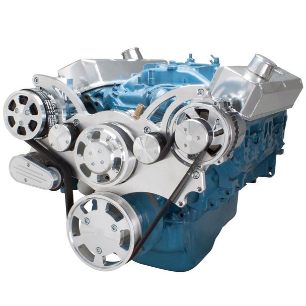 Serpentine System for Small Block Mopar - AC & Alternator