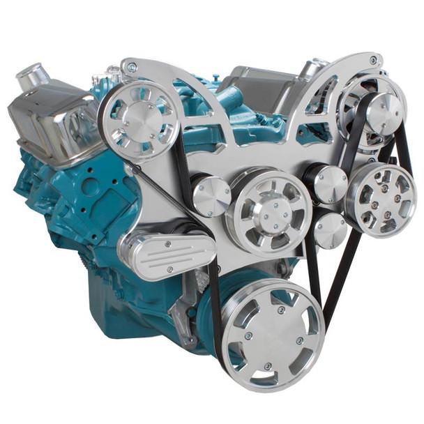 Pontiac Serpentine System for 350-400, 428 & 455 V8 - Power Steering