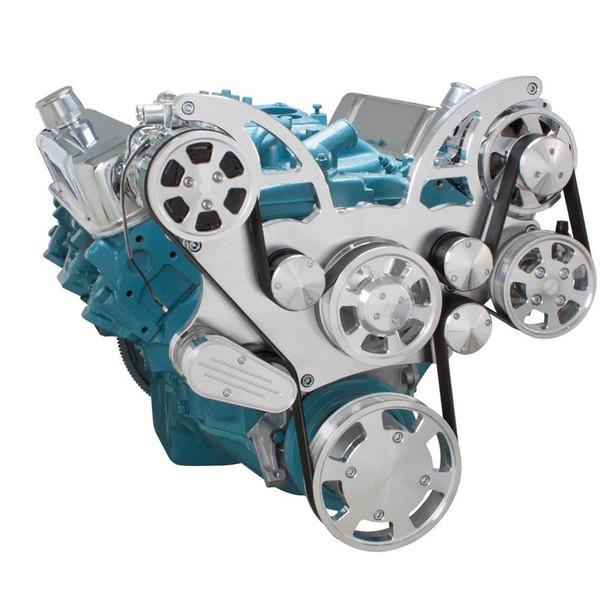 Pontiac Serpentine System for 350-400, 428 & 455 V8 - AC, Power Steering & Alternator