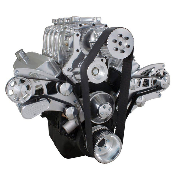 Serpentine System for 396, 427 & 454 Supercharger - Alternator Only with Electric Water Pump