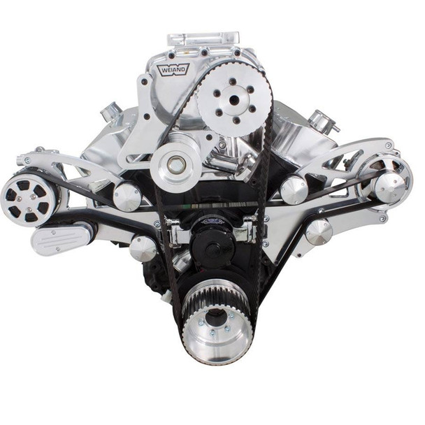 Serpentine System for 396, 427 & 454 Supercharger - AC, Alternator with EWP & Root Style Blower