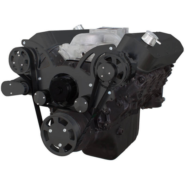 Black Serpentine System for 396, 427 & 454 - Alternator Only with Electric Water Pump
