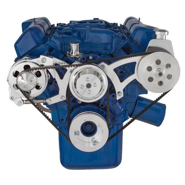 Ford 351C, 351M & 400 V-Belt System - Power Steering & Alternator