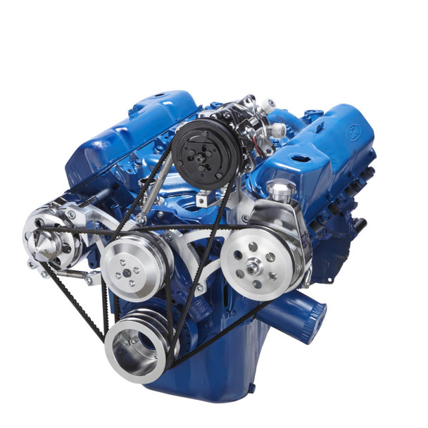 Ford 351C, 351M & 400 V-Belt System - AC, Alternator & Power Steering