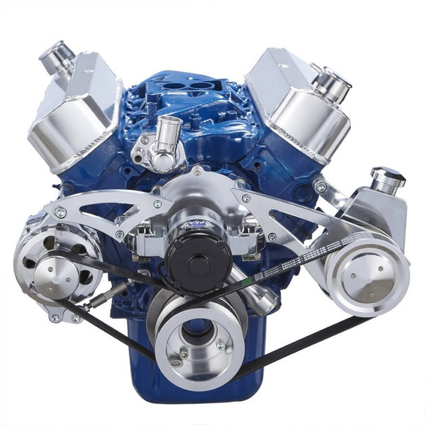 Ford 289-302-351W Serpentine Conversion Kit - Alternator & Power Steering with Electric Water Pump