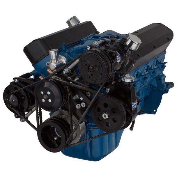Black Ford 289-302-351W V-Belt System - AC, Alternator & Power Steering