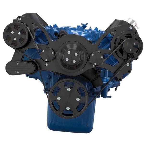 Stealth Black Serpentine System for 429 & 460 - AC & Alternator