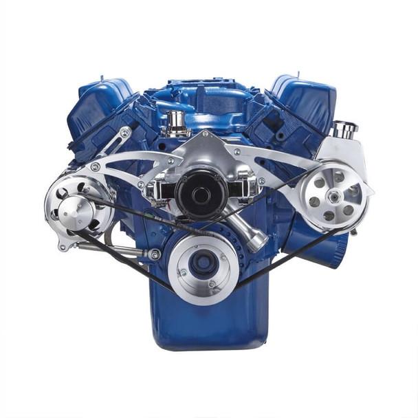 Ford 351C Serpentine System - Power Steering & Alternator, Electric Water Pump