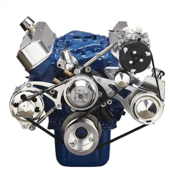 Ford 289-302-351W Serpentine Conversion Kit - Alternator, Power Steering & A/C