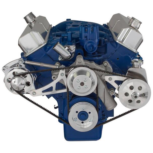 Ford 390 V-Belt System - Alternator & Power Steering with Saginaw Pump