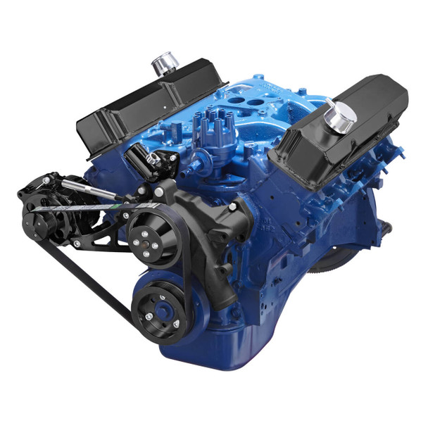 Black Ford 390 Serpentine System - Alternator Only