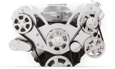 CVF Classic Polished Billet Aluminum Serpentine Kit