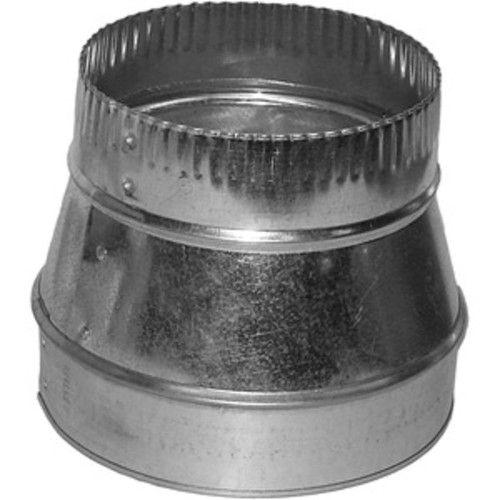 """8"""" to 6"""" Sheet metal HVAC Duct Reducer for flexible or metal HVAC Ducts and air vents."""