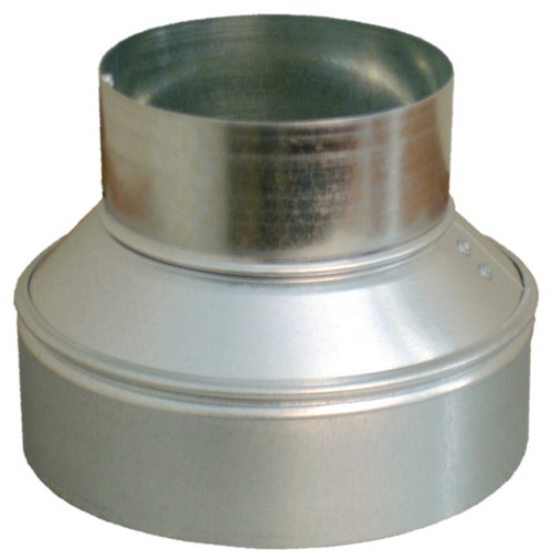 9x7 Round Duct Reducer for HVAC