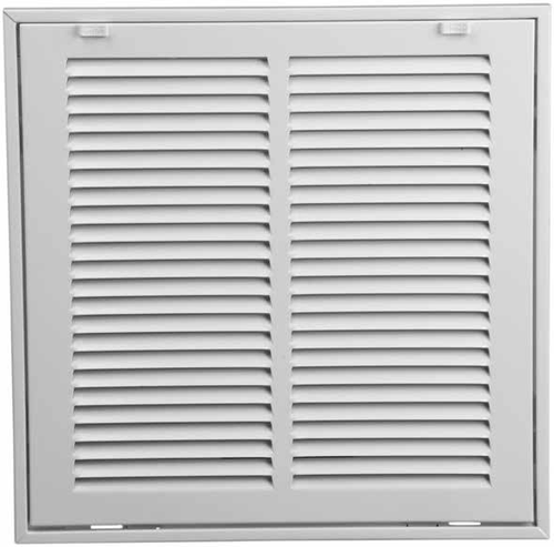24x8 return air filter grille stamped face