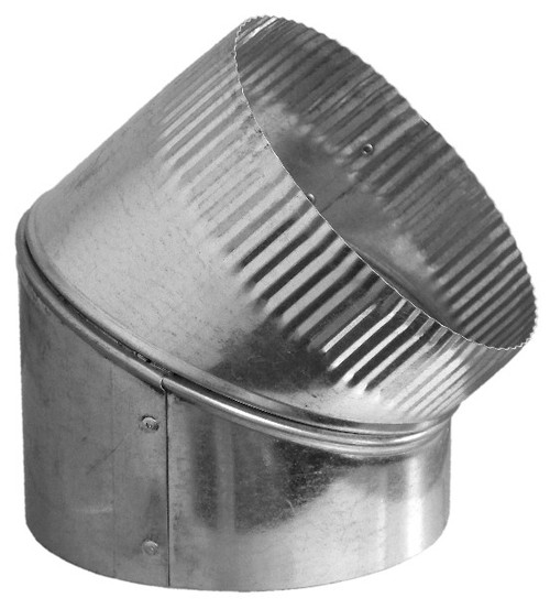 """8"""" 45 Degree Adjustable Duct Elbow"""