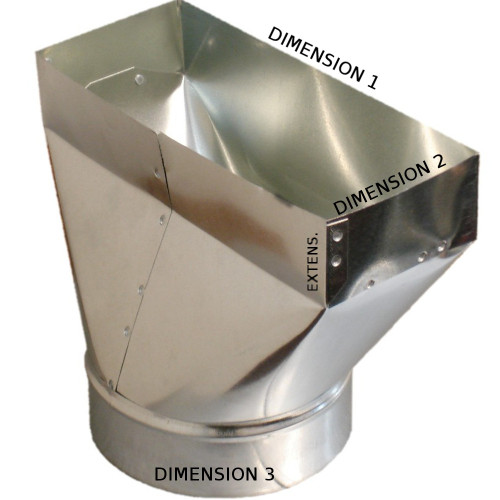 12x4x8 PH1 Duct Register Boot