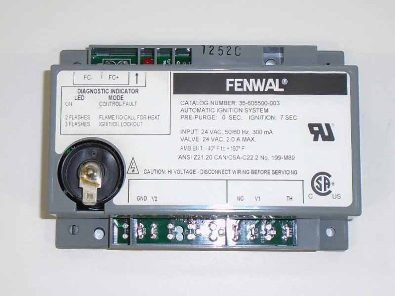 fmi gas fireplace fenwal ignition control module 14384. Black Bedroom Furniture Sets. Home Design Ideas