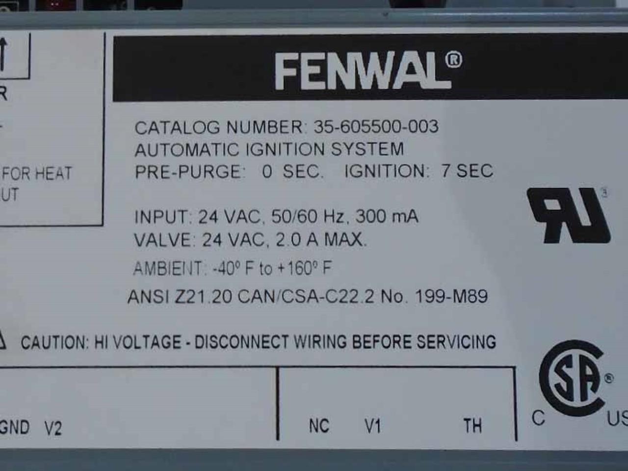 Fmi Fenwal Ignition Control Module J6826rhstovepartsunlimited: Fenwal Ignition System Wiring Diagram At Gmaili.net