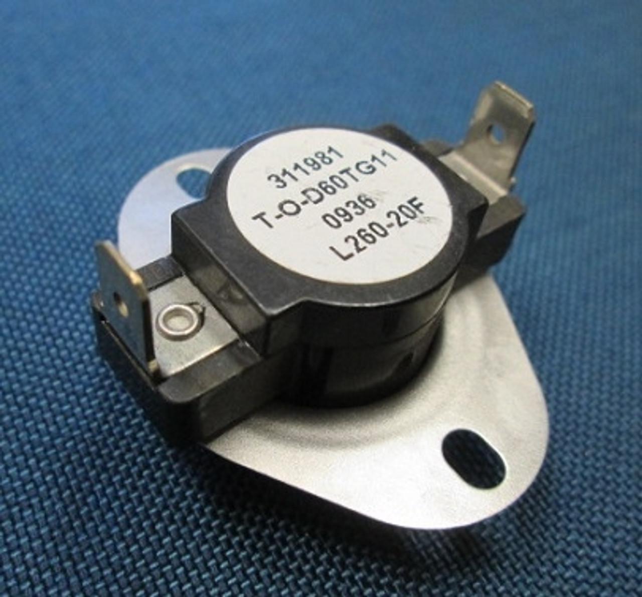 Harman Clarity Insert Limit Switch Flue 3 20 08564