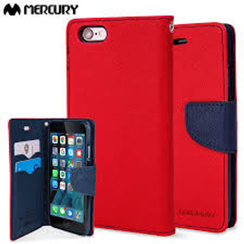 For iphone 6/6s plus Mercury Fancy Diary Red
