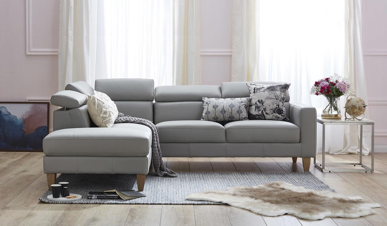 Brando Leather Corner Chaise Focus On Furniture