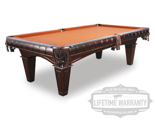 Kruger Foot Pool Table With FREE Deluxe Accessory Kit - Modern slate pool table