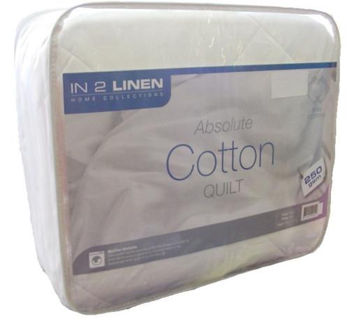 Super King Size 250 gsm 100% Cotton  Quilt/Doona Machine Washable