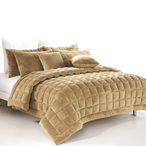 Augusta Double Quilt /Coverlet Set - Latte