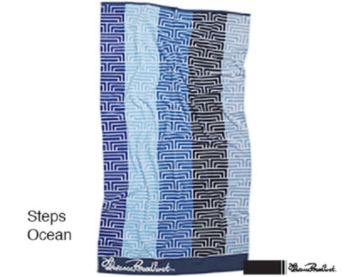Steps Ocean Beach Towel by Florence Broadhurst