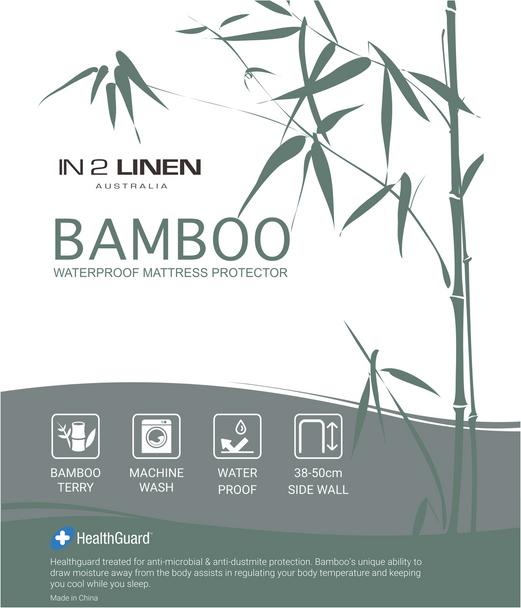 In 2 Linen Bamboo Waterproof Mattress Protector